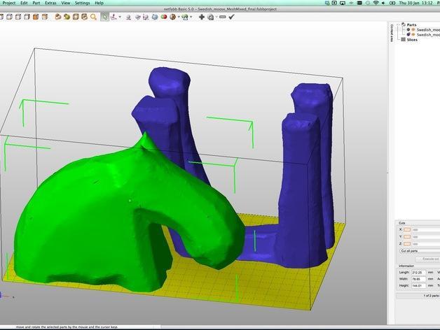 手工木质麋鹿 3D模型  图21