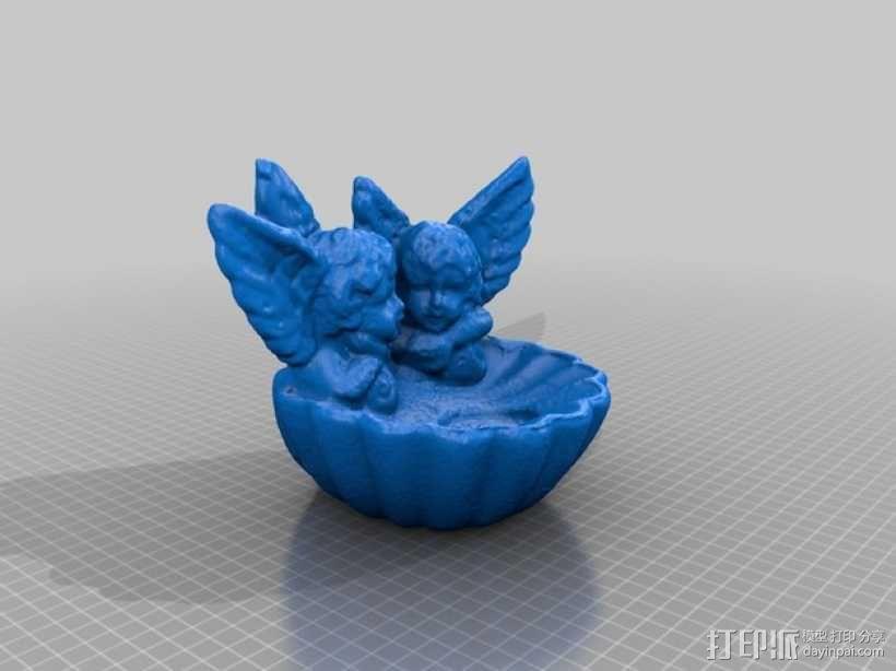 天使烛台 3D模型  图1