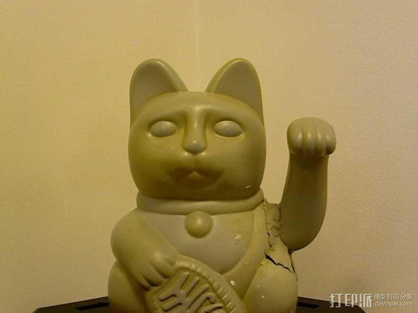 招财猫 3D模型  图1