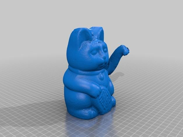 招财猫 3D模型  图2