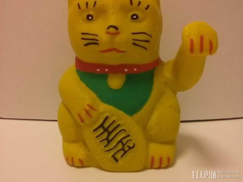 招财猫 3D模型  图4
