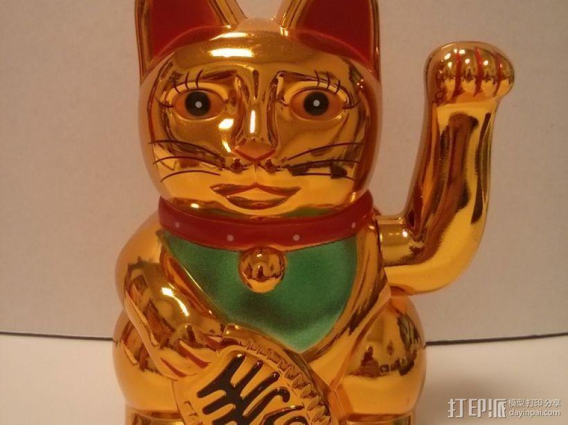招财猫 3D模型  图5