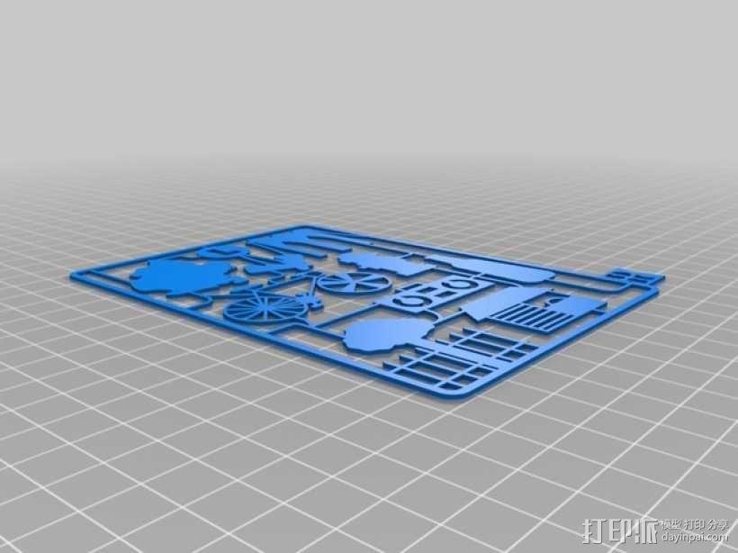 逃出纽约游戏卡 3D模型  图2