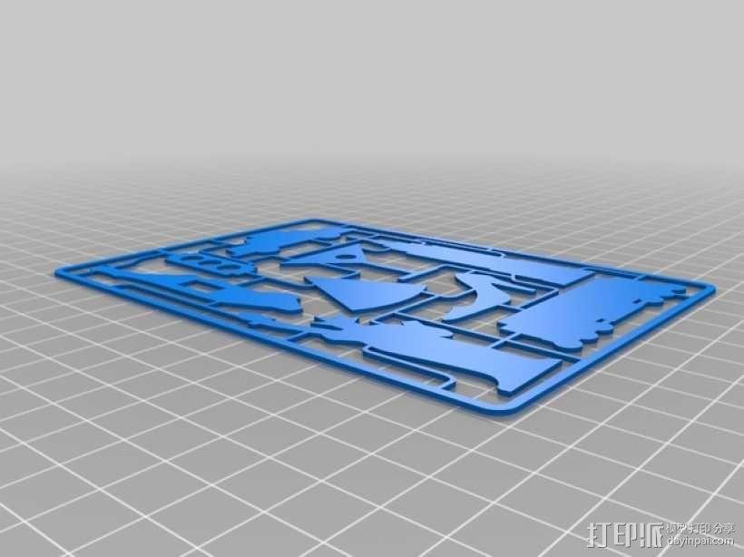 逃出纽约游戏卡 3D模型  图3