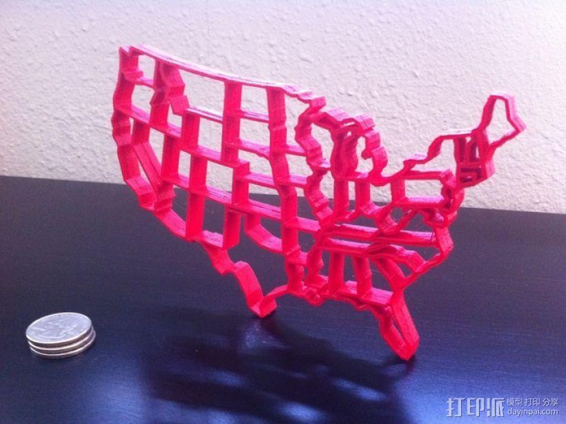 美国的48个州 3D模型  图1
