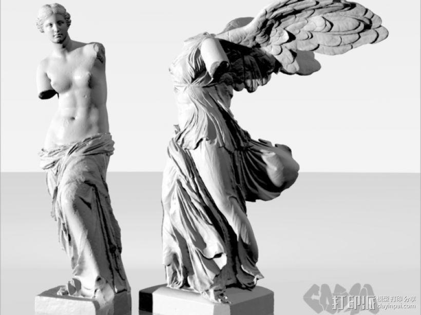 古希腊神话人物雕像 3D模型  图3