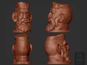 吸血鬼猎人头像 3D模型