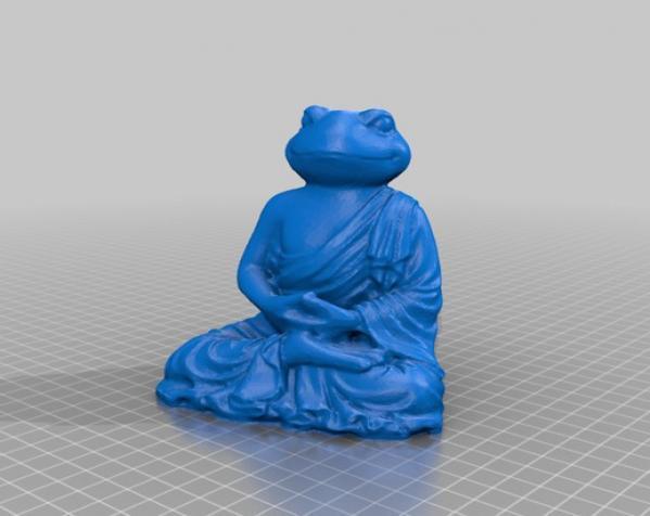 青蛙佛陀 3D模型  图2
