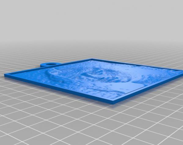 浮雕吊饰 3D模型  图2