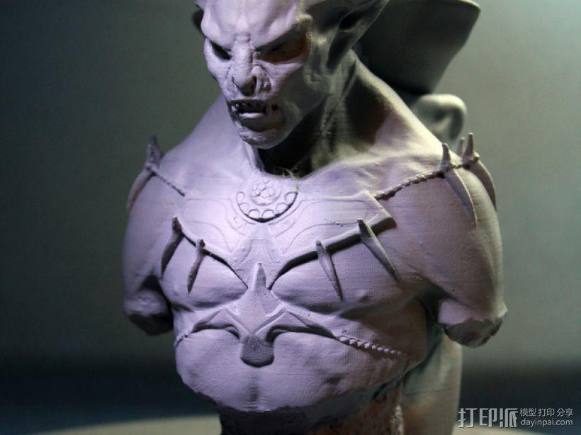 吸血鬼雕像 3D模型  图1