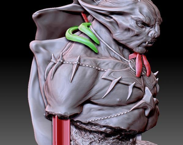 吸血鬼雕像 3D模型  图5