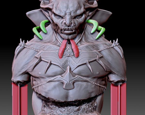 吸血鬼雕像 3D模型  图4