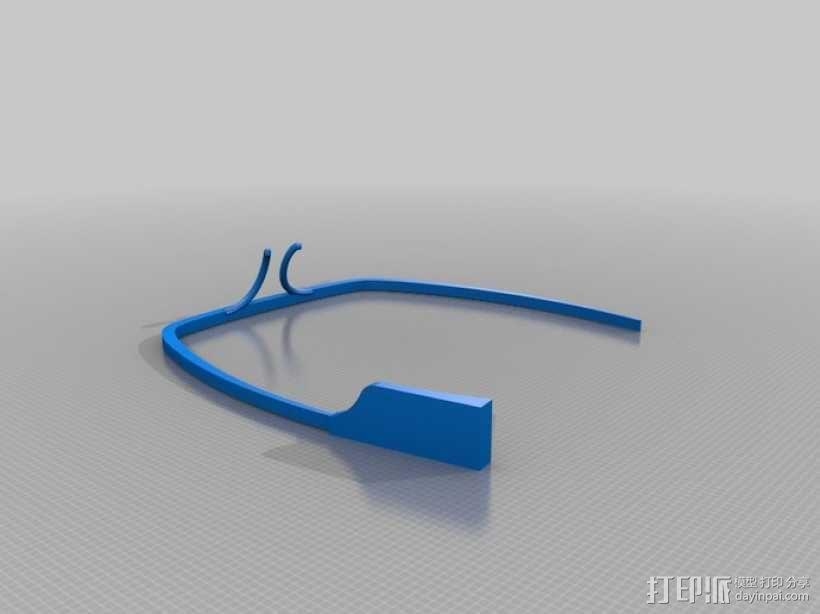 谷歌眼镜 3D模型  图1