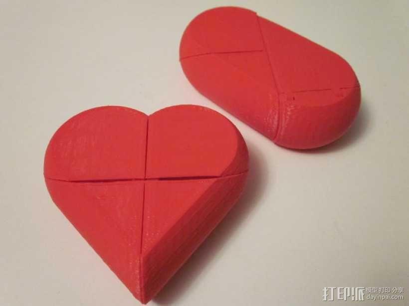 心形锁盒 3D模型  图3