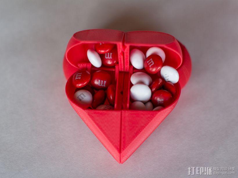 心形锁盒 3D模型  图2