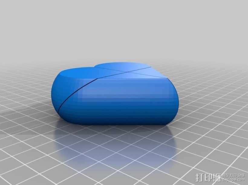 心形锁盒 3D模型  图7
