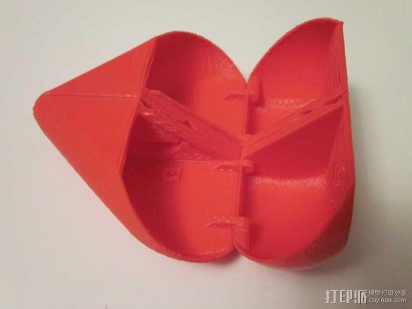 心形锁盒 3D模型  图5