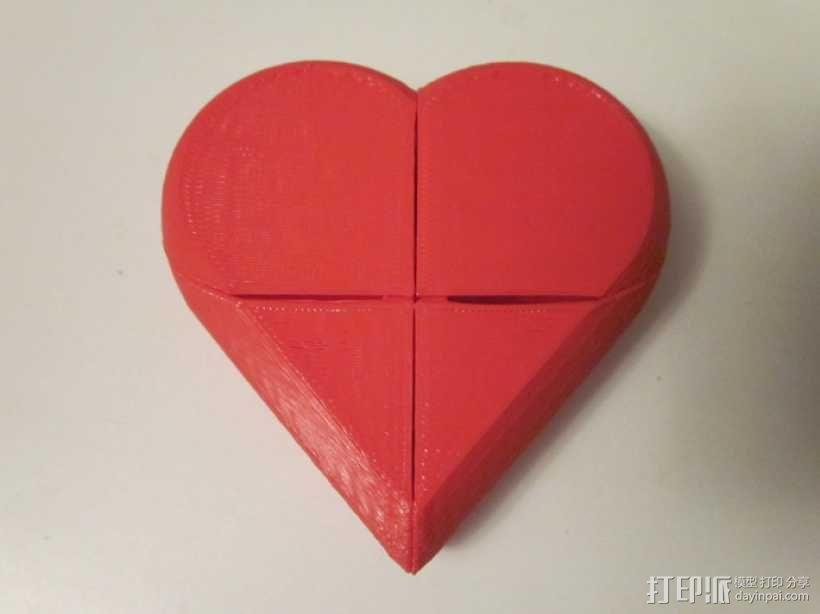 心形锁盒 3D模型  图4