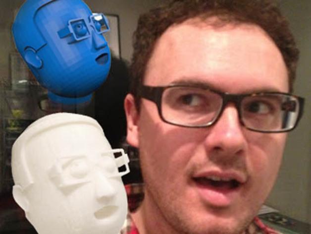 卡通人物头像 3D模型  图1