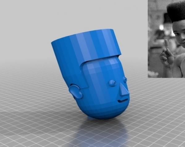 卡通人物头像 3D模型  图3