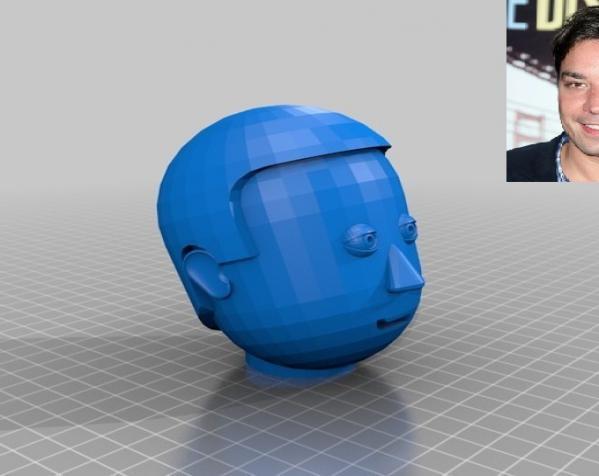 卡通人物头像 3D模型  图4