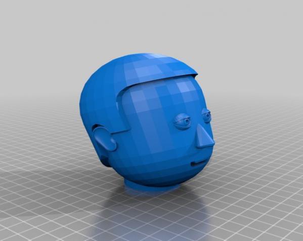 卡通人物头像 3D模型  图8