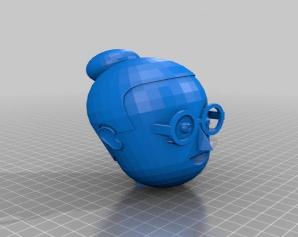 卡通人物头像 3D模型  图14
