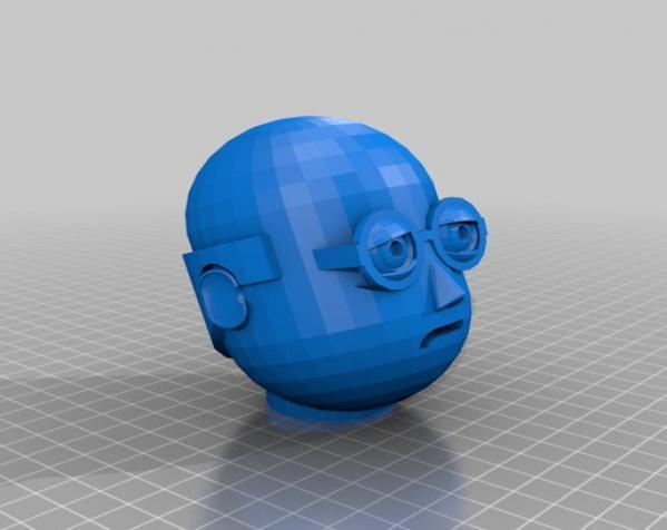 卡通人物头像 3D模型  图16