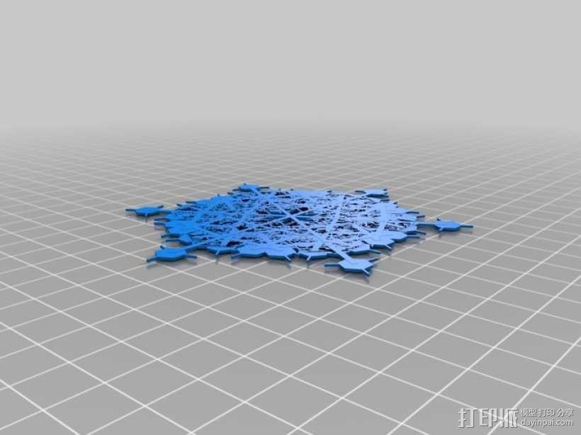 雪花 3D模型  图5