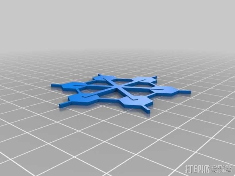 雪花 3D模型  图8