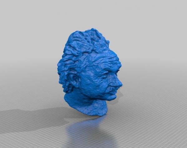 爱因斯坦头像 3D模型  图2