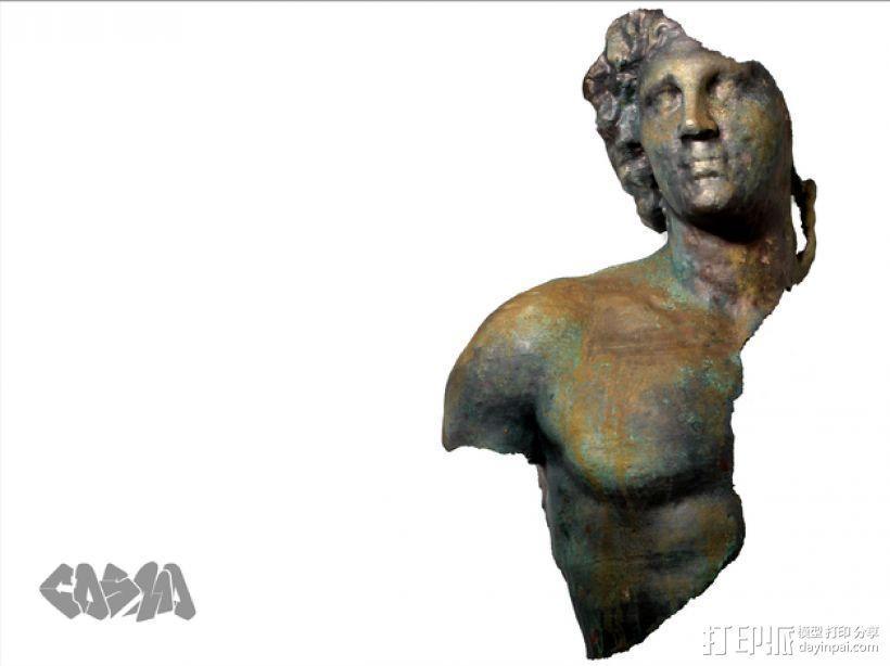 亚历山大大帝 半身像 3D模型  图1