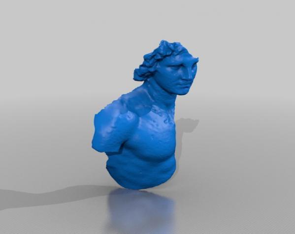 亚历山大大帝 半身像 3D模型  图5