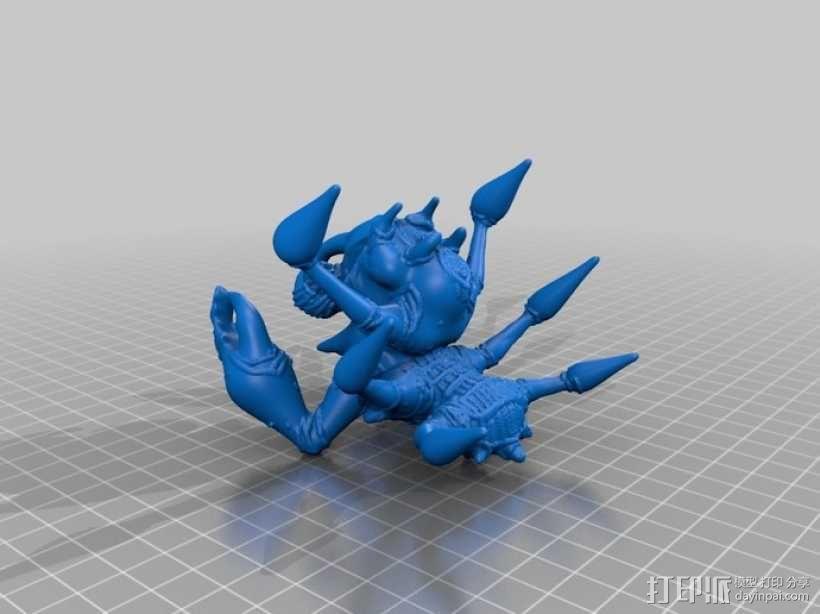 多足怪兽:雷霆蟹 3D模型  图1