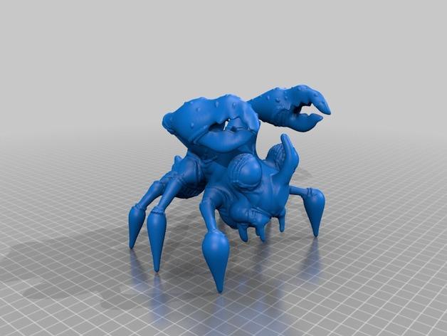 多足怪兽:雷霆蟹 3D模型  图2