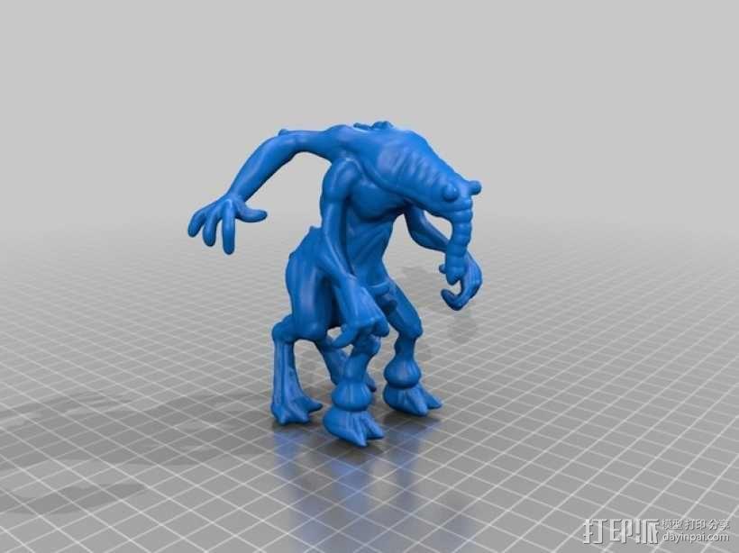 大象怪兽 3D模型  图2