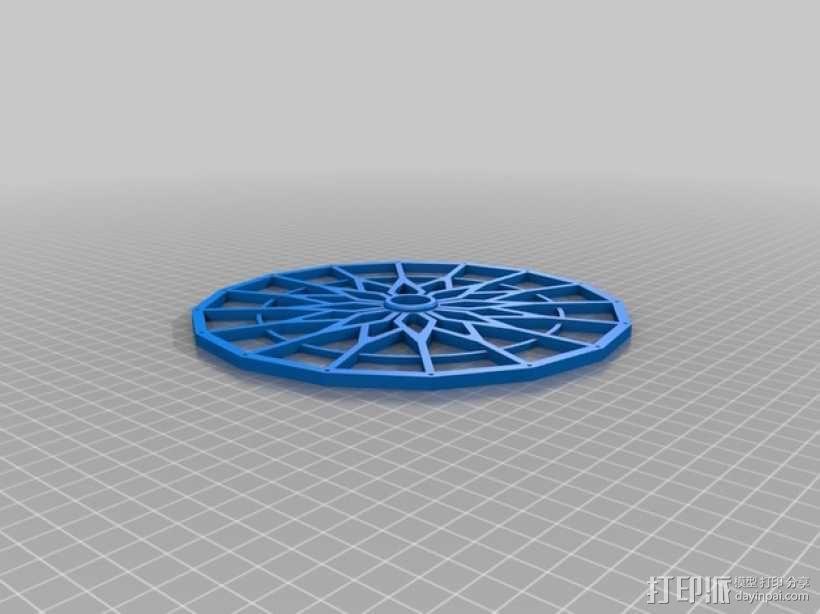 摩天轮 3D模型  图4