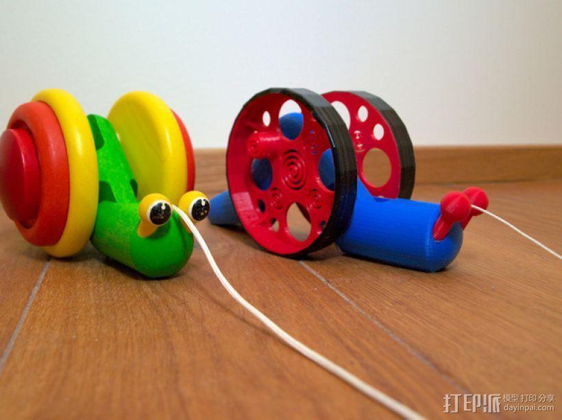 滚动蜗牛玩具 3D模型  图8