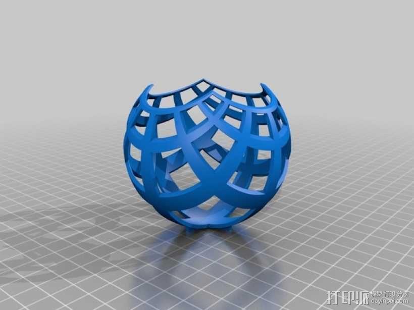 球面投影 3D模型  图2