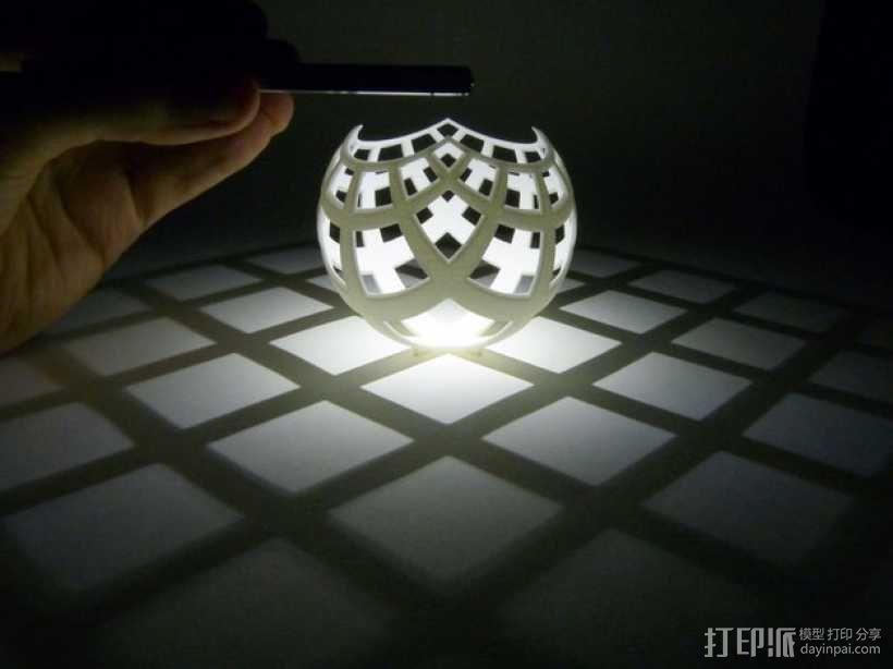 球面投影 3D模型  图1