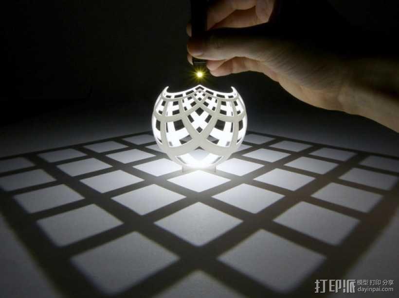 球面投影 3D模型  图3