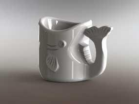 鱼杯 3D模型