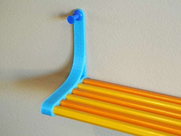 铅笔书架 3D模型  图1