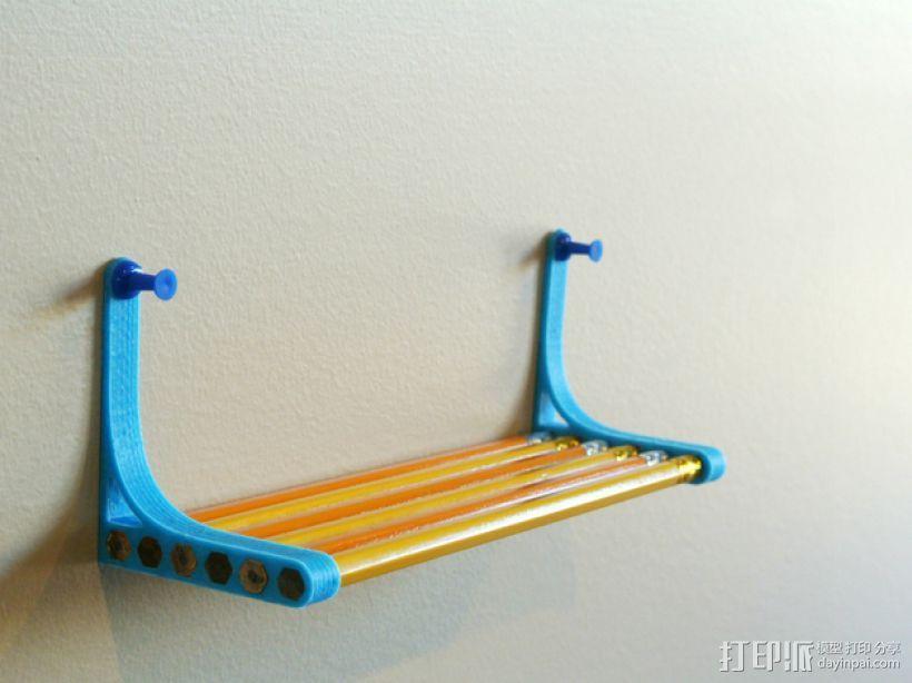 铅笔书架 3D模型  图4