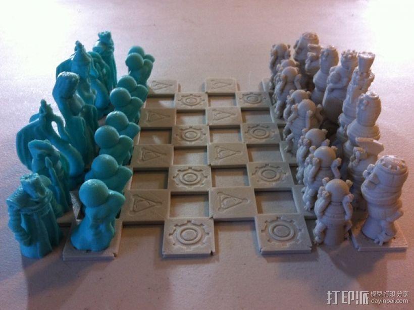 机器人与向导象棋组 3D模型  图7