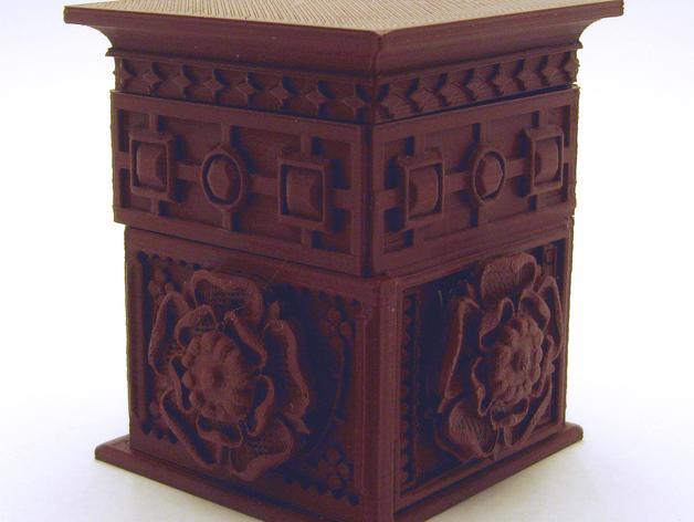都铎王朝的玫瑰框(秘密锁) 3D模型  图4