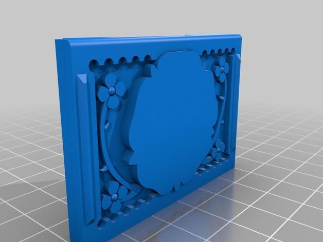 都铎王朝的玫瑰框(秘密锁) 3D模型  图3