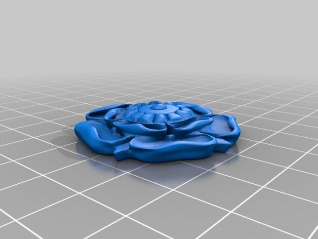 都铎王朝的玫瑰框(秘密锁) 3D模型  图7