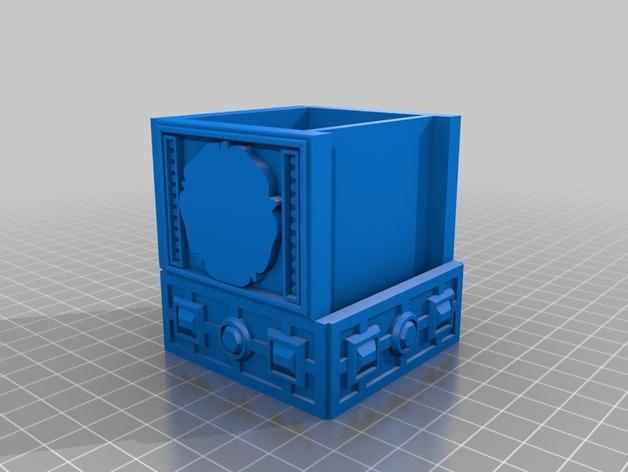 都铎王朝的玫瑰框(秘密锁) 3D模型  图2