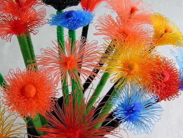 花朵 小绒花 3D模型  图1